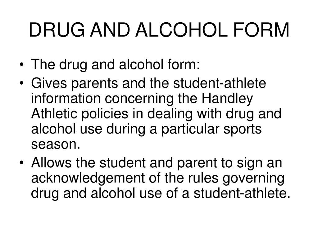 DRUG AND ALCOHOL FORM