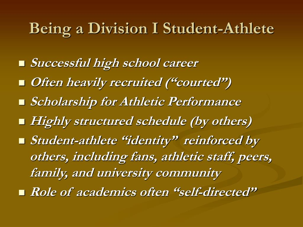 Being a Division I Student-Athlete