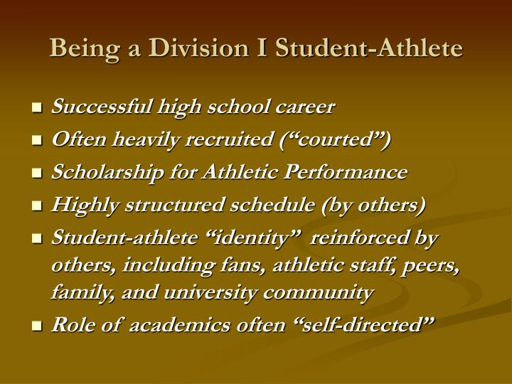 Being a division i student athlete