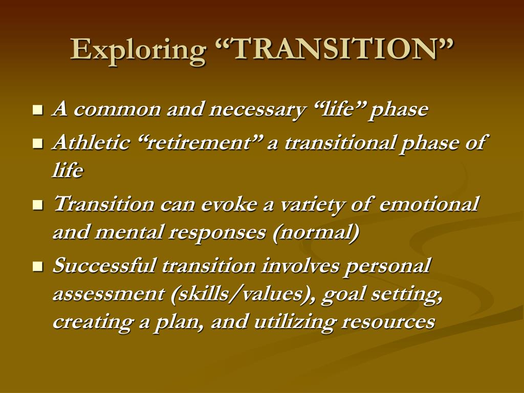 "Exploring ""TRANSITION"""