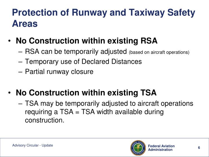 Protection of Runway and Taxiway Safety Areas