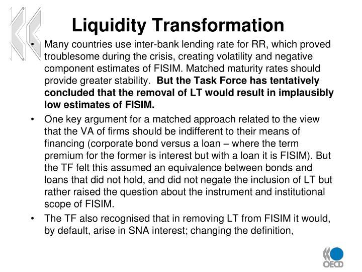 Liquidity Transformation