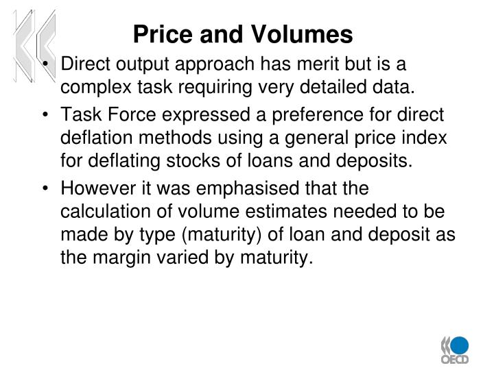 Price and Volumes