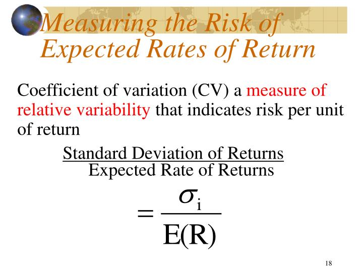 learning about return and risk from The risk-return trade off of their age the development of the shipping trades created fresh equations for risk and return, with the risk of ships sinking and being .