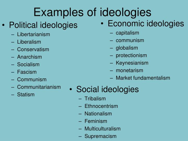 Examples of ideologies