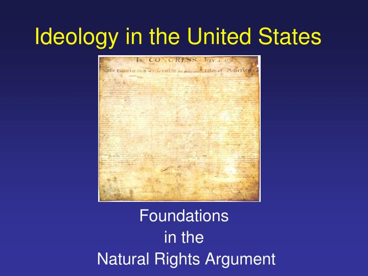 Ideology in the United States