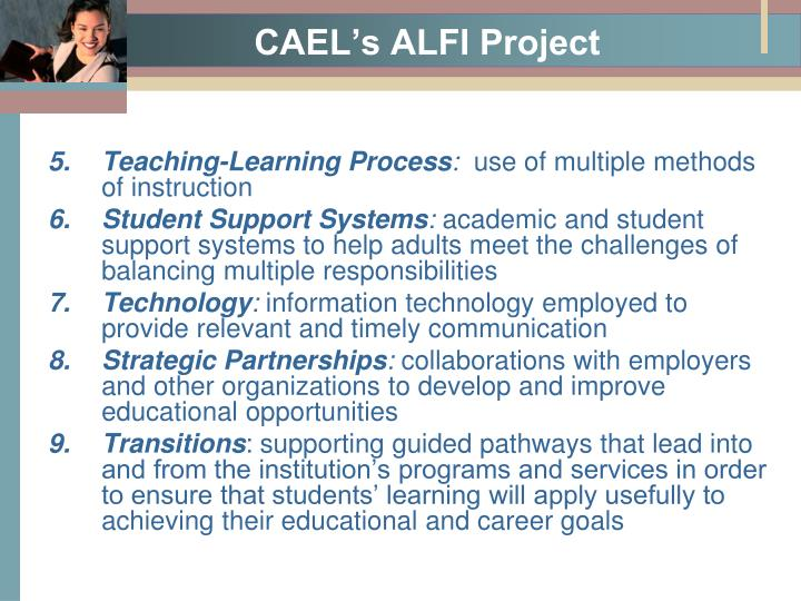 CAEL's ALFI Project