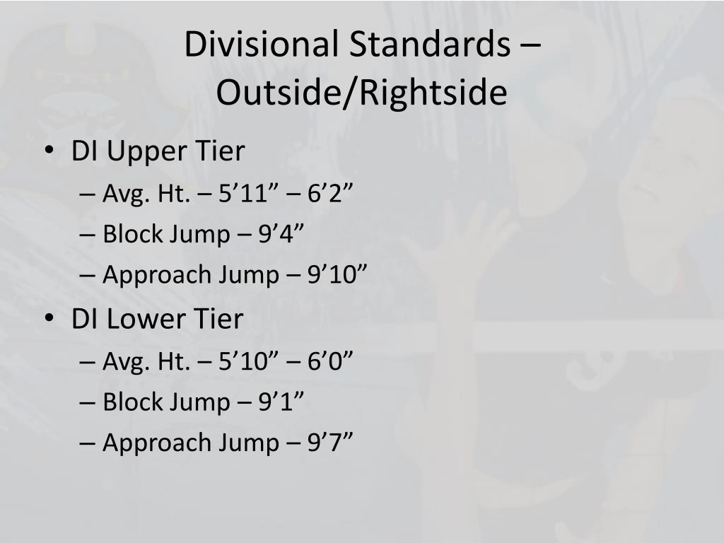 Divisional Standards – Outside/
