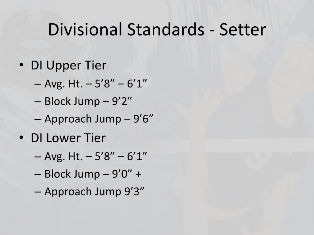 Divisional Standards - Setter