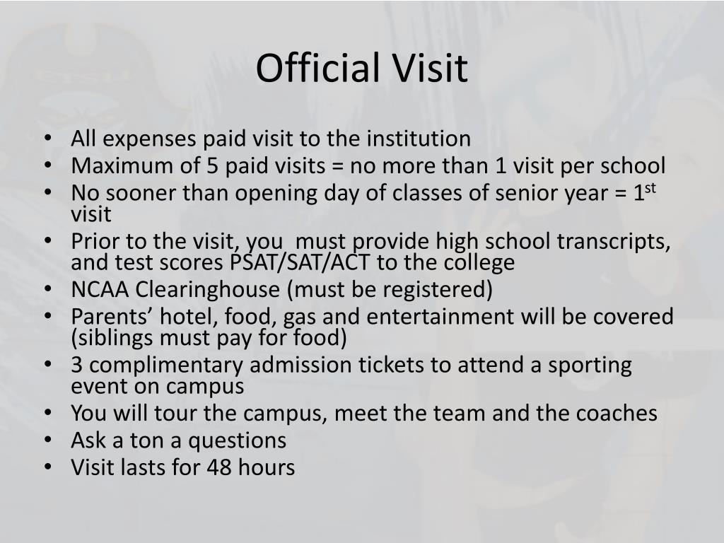 Official Visit