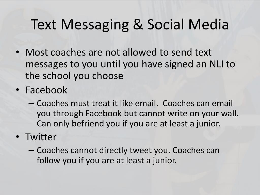 Text Messaging & Social Media