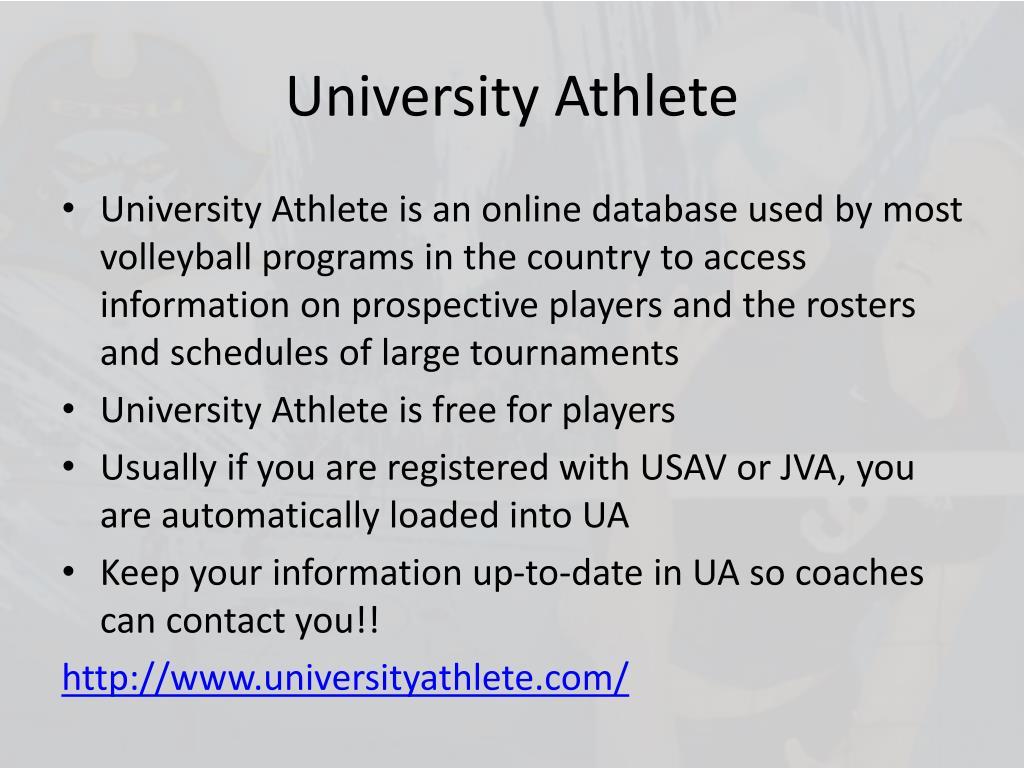 University Athlete