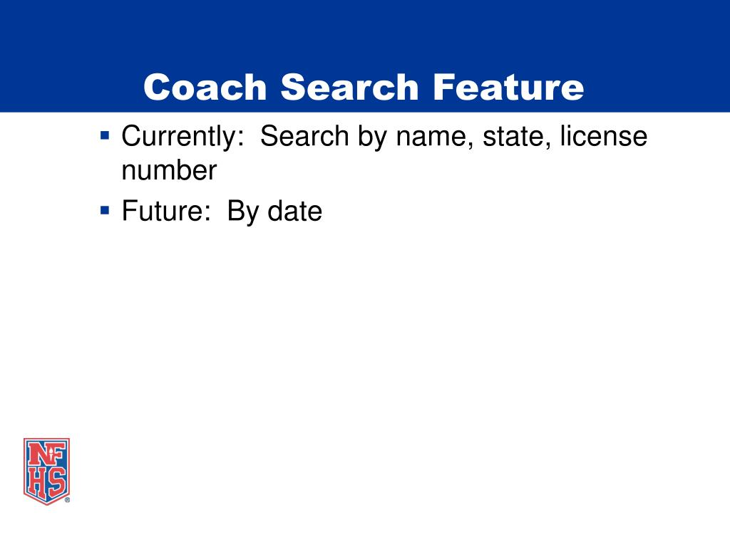 Coach Search Feature
