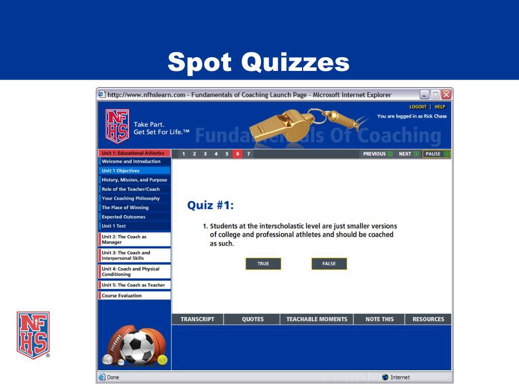 Spot Quizzes