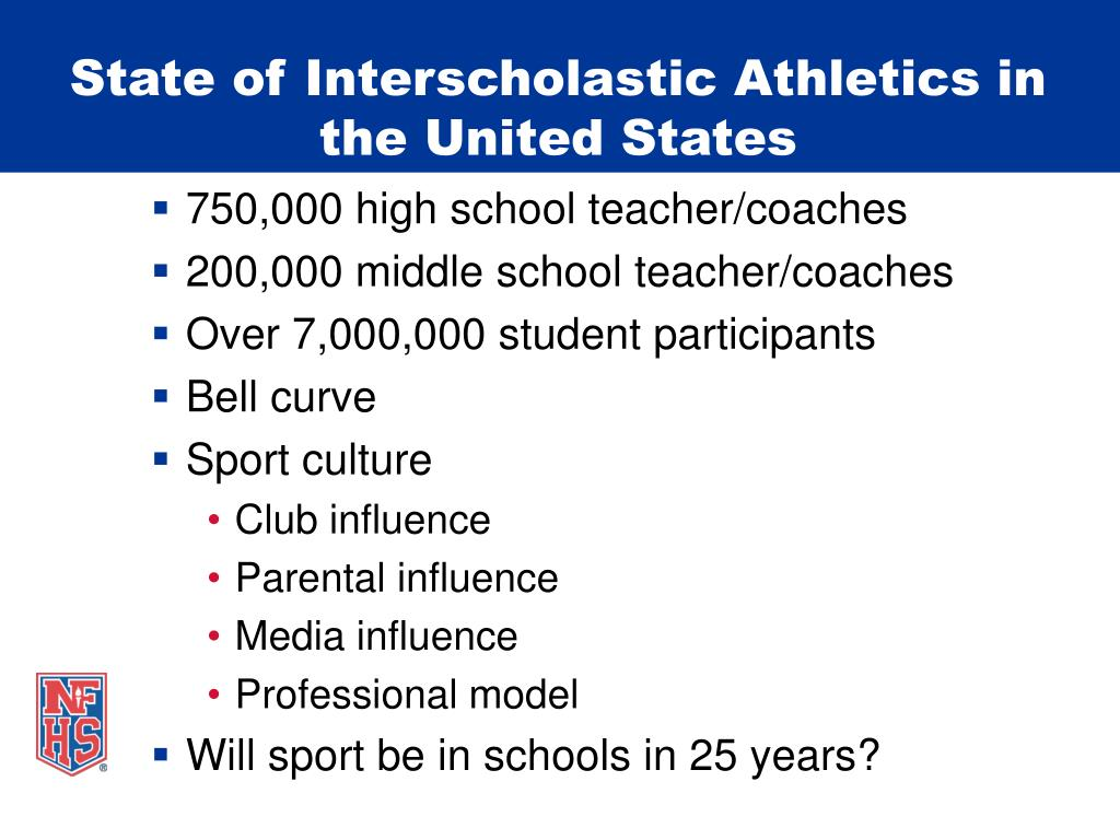 State of Interscholastic Athletics in the United States