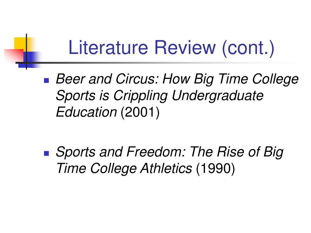 Literature Review (cont.)