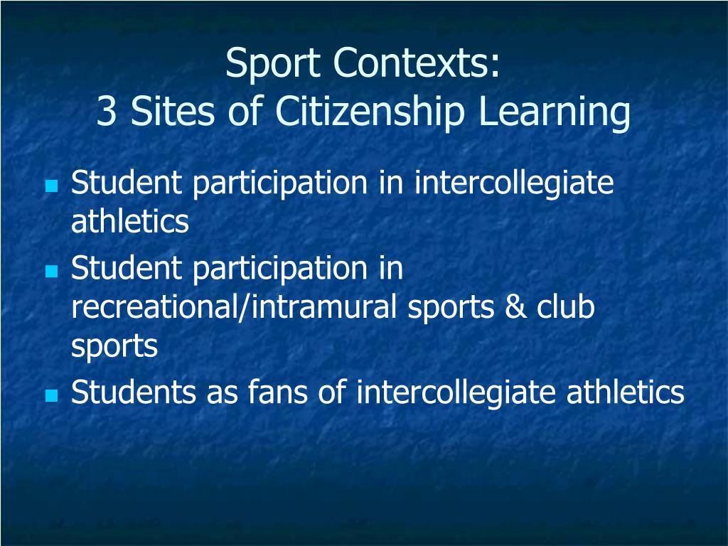 Sport Contexts: