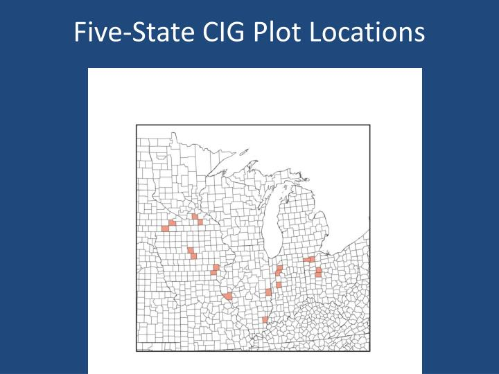 Five-State CIG Plot Locations
