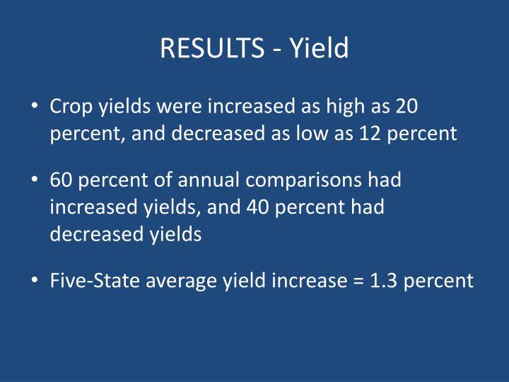 RESULTS - Yield
