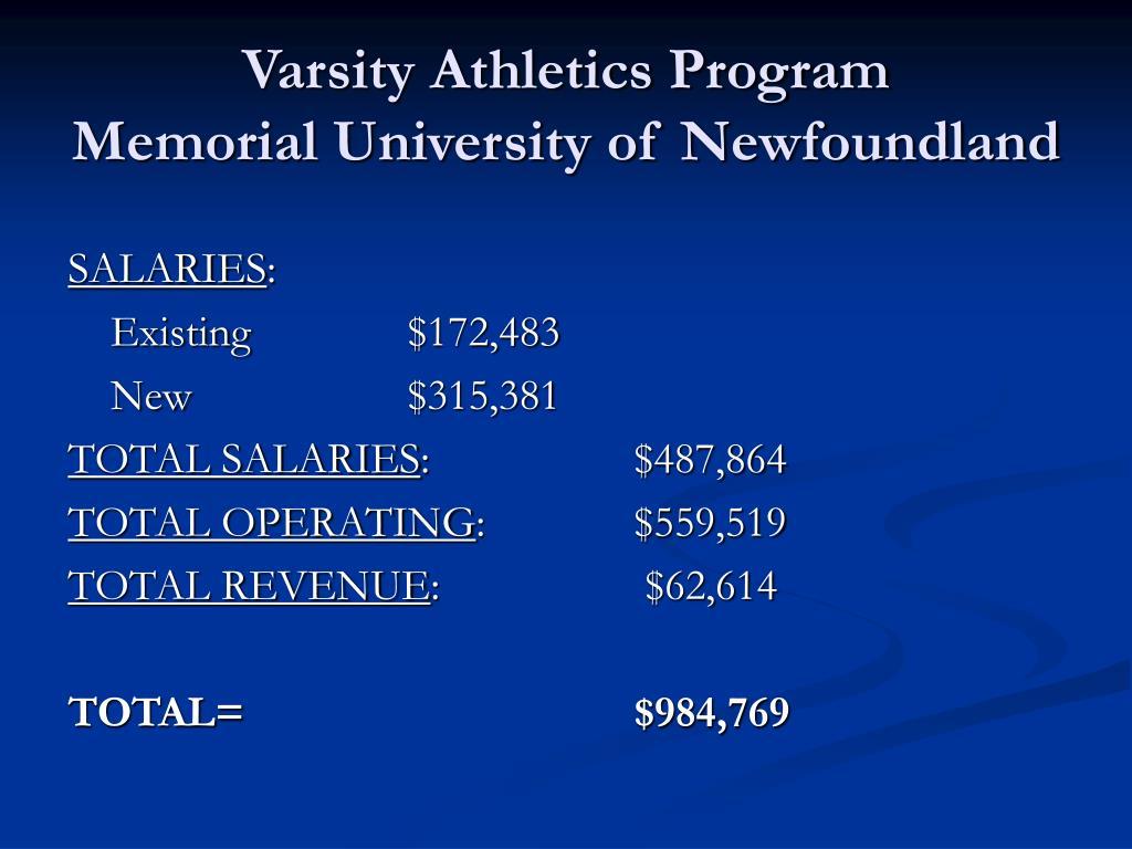 Varsity Athletics Program