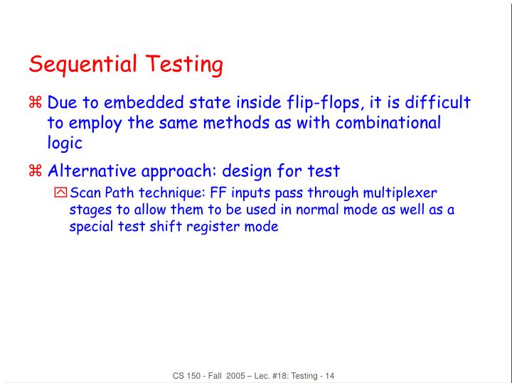 Sequential Testing