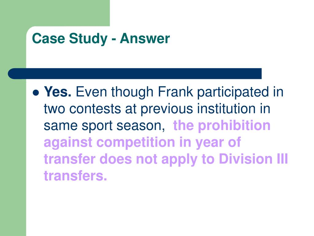 Case Study - Answer