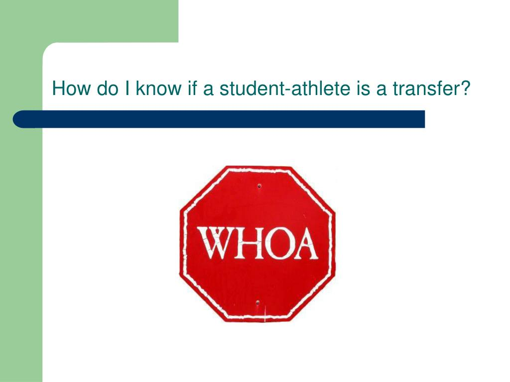 How do I know if a student-athlete is a transfer?