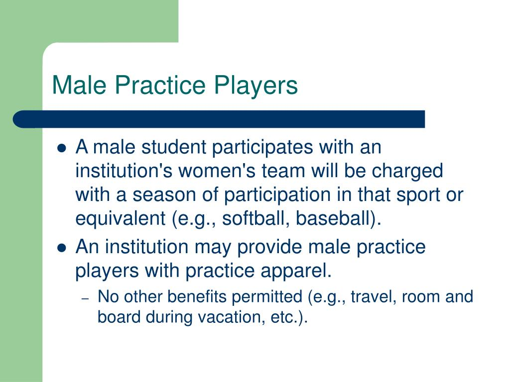 Male Practice Players