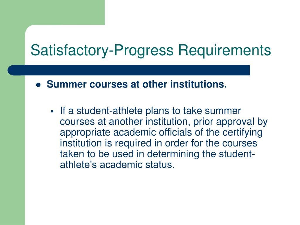 Satisfactory-Progress Requirements