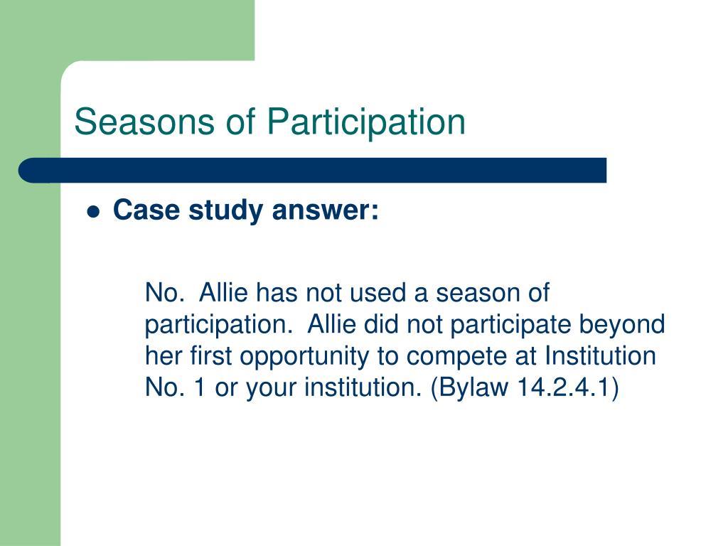 Seasons of Participation