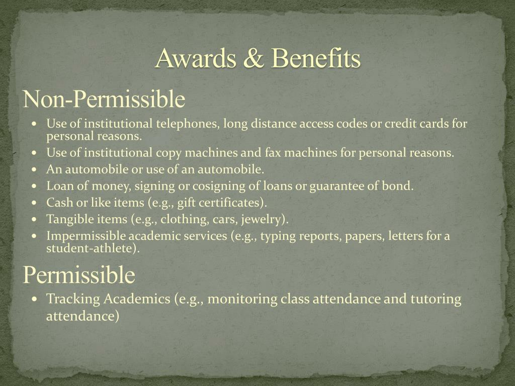 Awards & Benefits