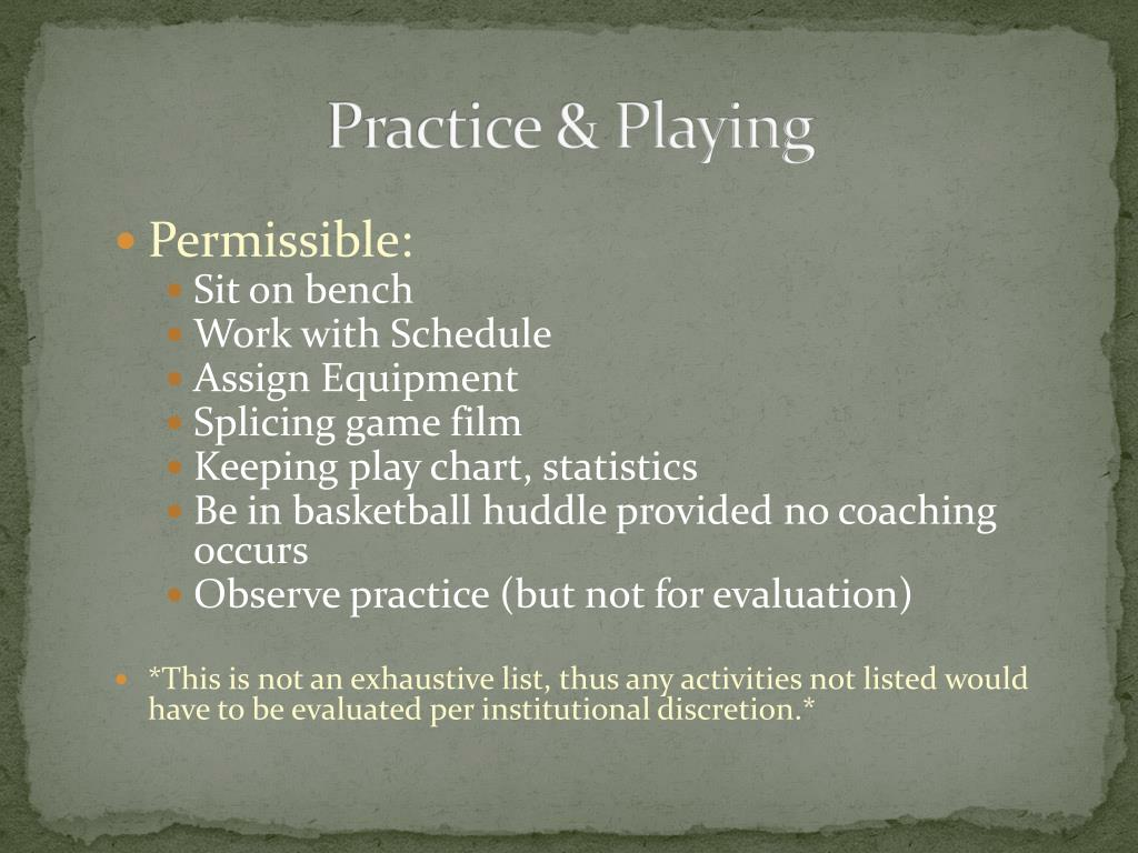 Practice & Playing