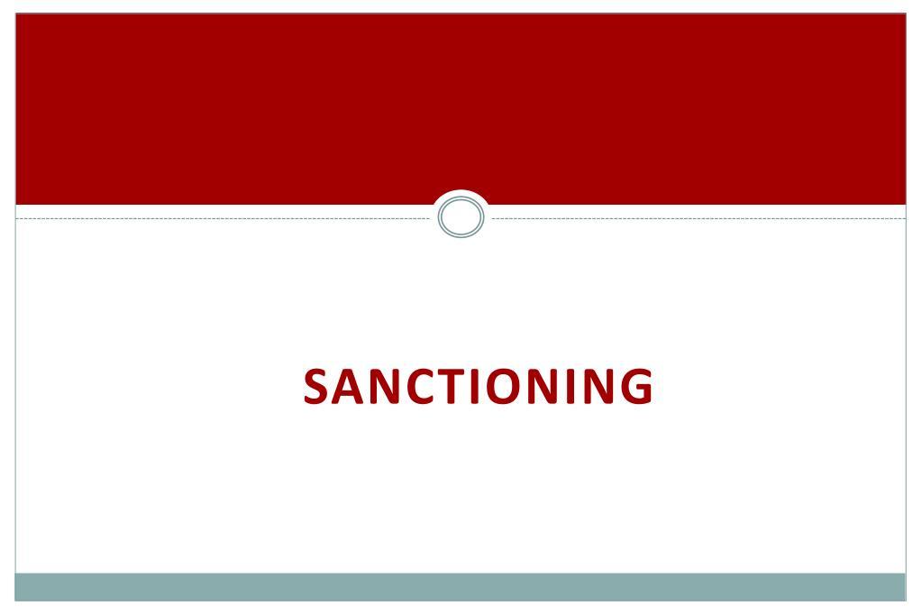 Sanctioning