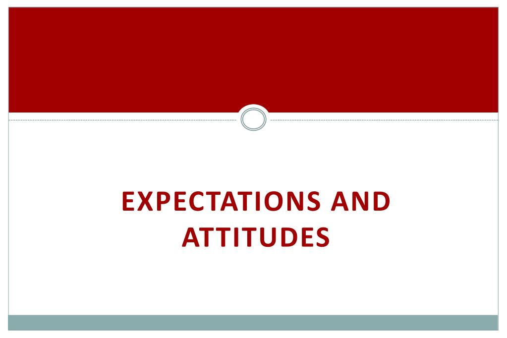 Expectations and Attitudes