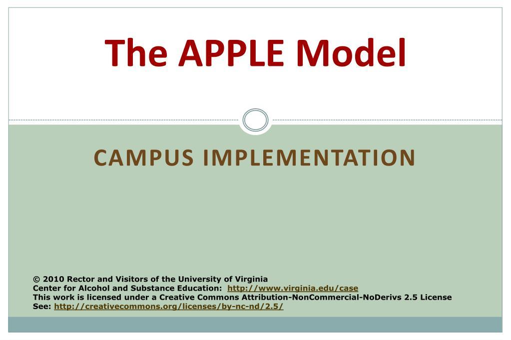 The APPLE Model