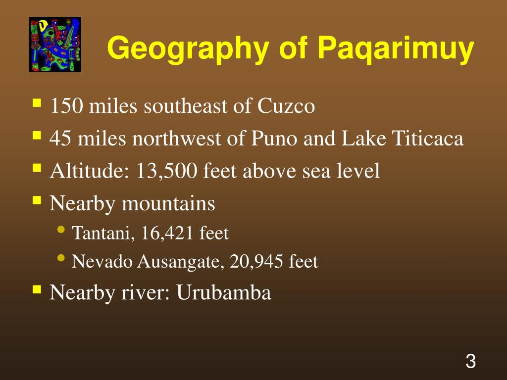 Geography of Paqarimuy