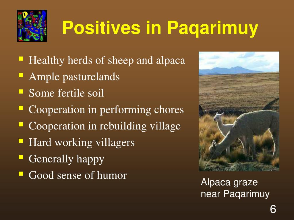 Positives in Paqarimuy