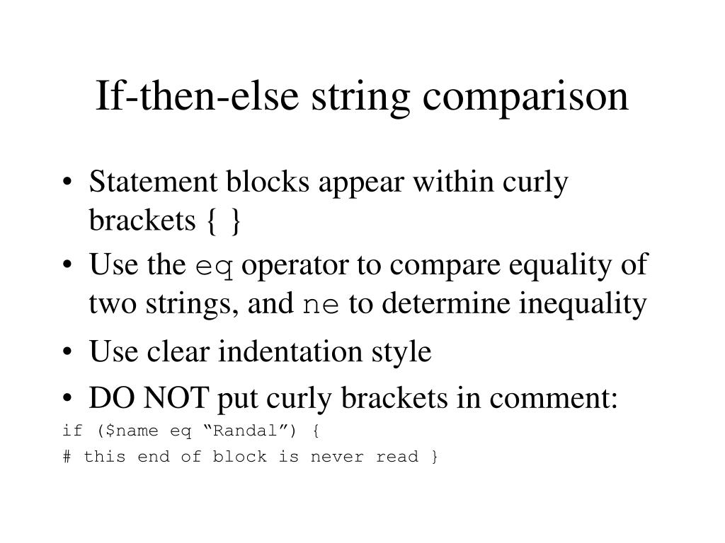 If-then-else string comparison
