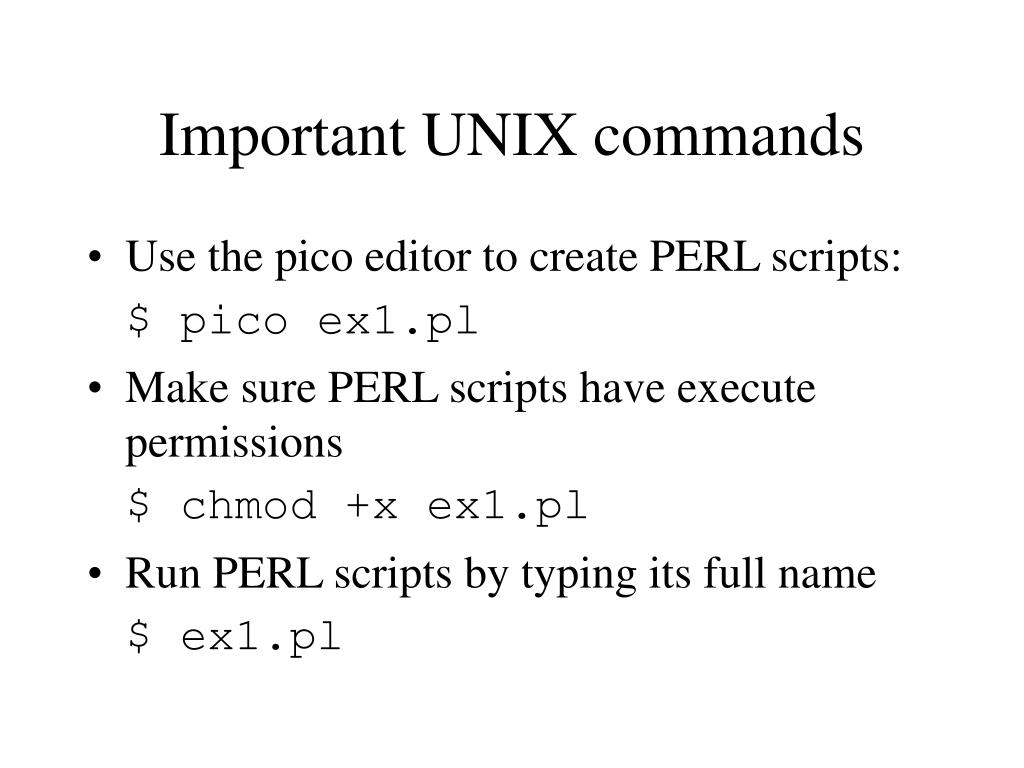 Important UNIX commands
