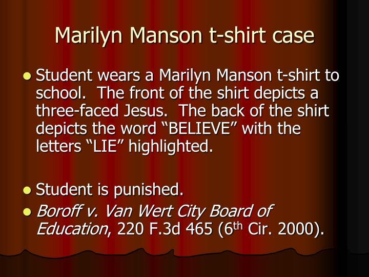 Marilyn Manson t-shirt case