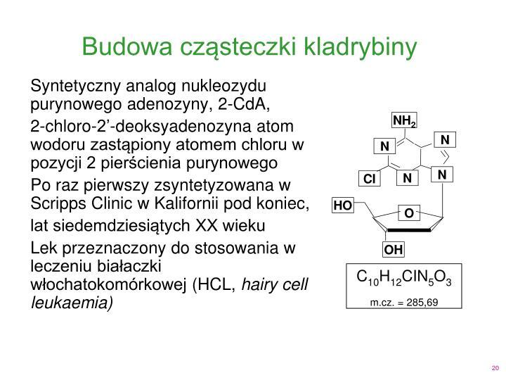 Budowa cząsteczki kladrybiny