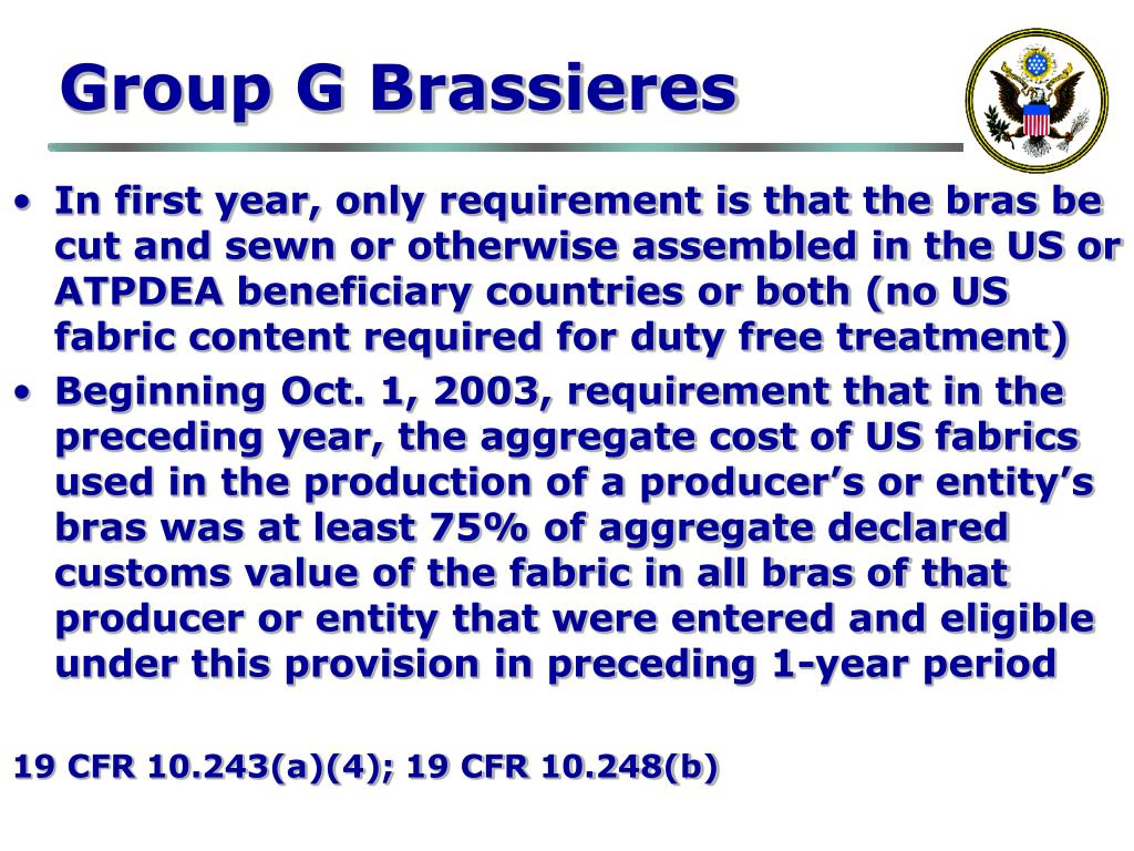 Group G Brassieres