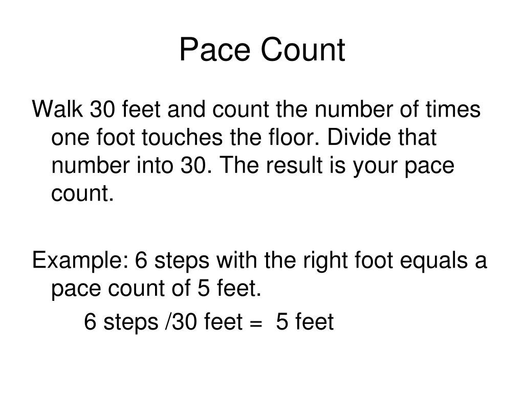 Pace Count
