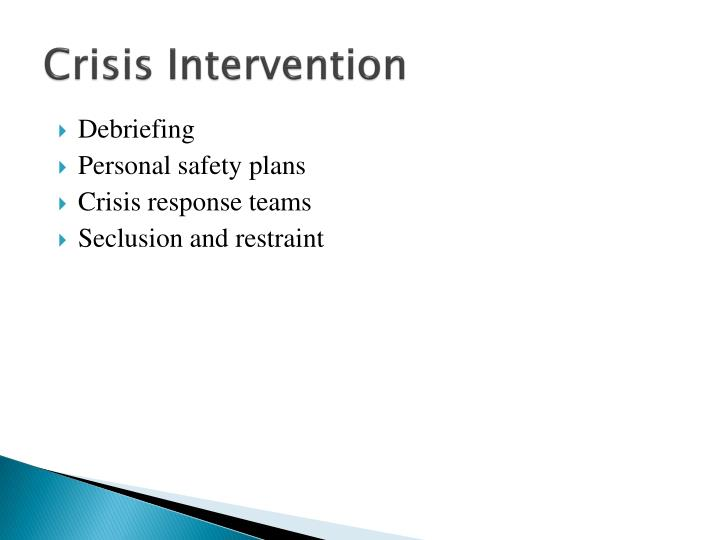 nursing thesis crisis intervention Course description ceu course for nursing and other health professions this 5-hour behavioral health continuing education course covers types of crises, the stages of crisis intervention, and ethical and legal issues.