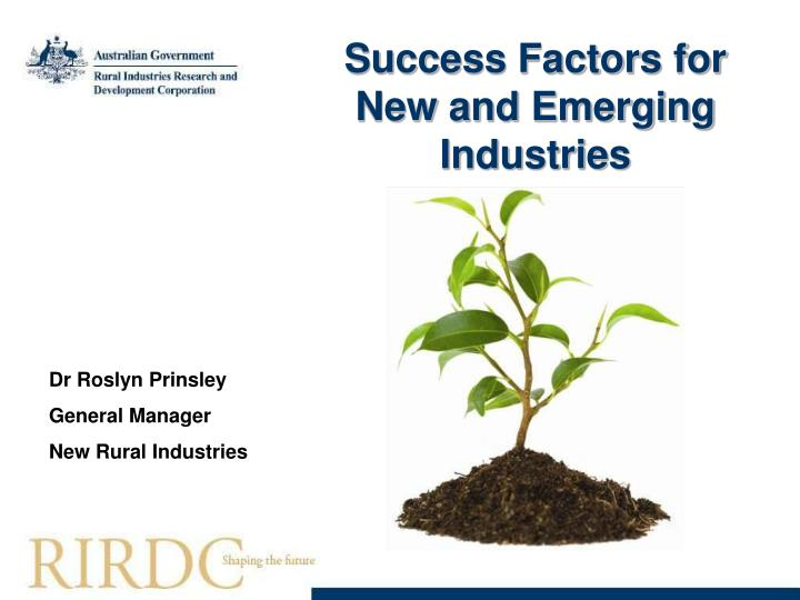 Success Factors for New and Emerging Industries