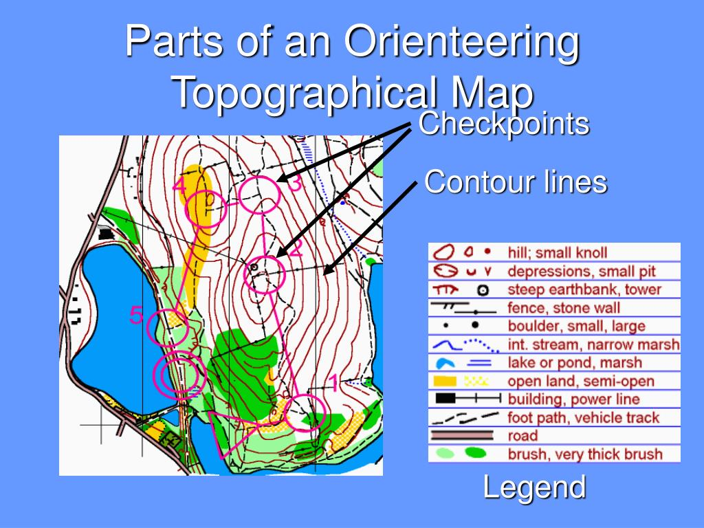 Parts of an Orienteering Topographical Map