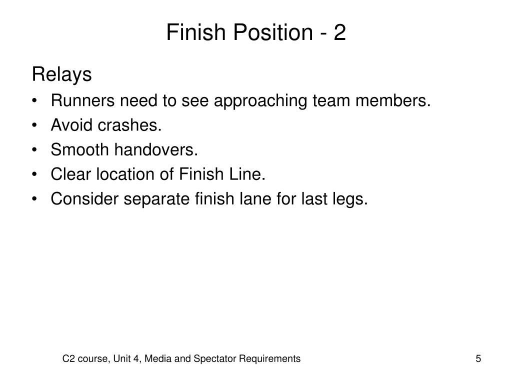 Finish Position - 2