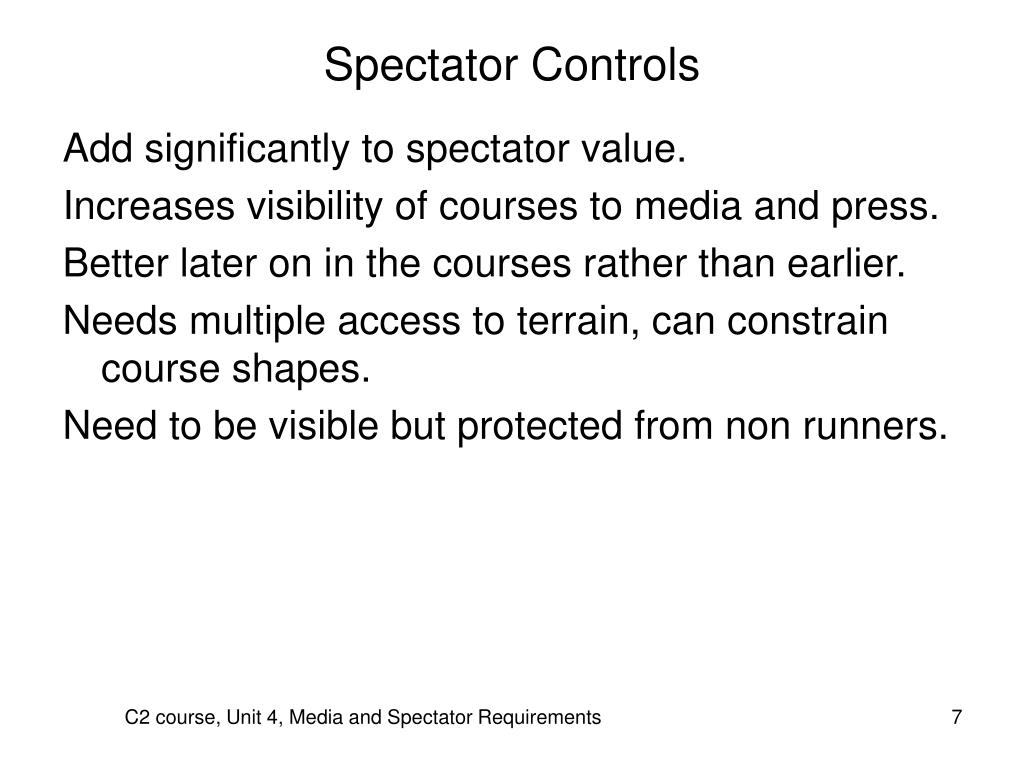 Spectator Controls