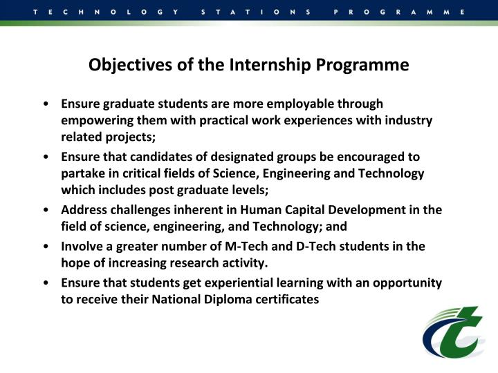 Objectives of the Internship Programme