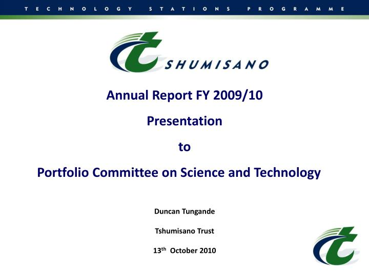 Annual Report FY 2009/10